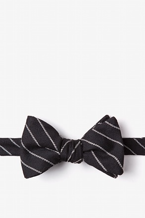 _Glenn Heights Black Self-Tie Bow Tie_