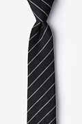 Black Cotton Glenn Heights Skinny Tie