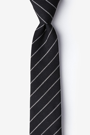 _Glenn Heights Black Skinny Tie_