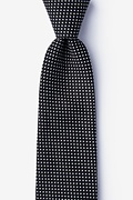 Black Cotton Gregory Extra Long Tie