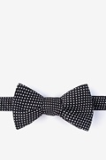 Black Cotton Gregory Self-Tie Bow Tie