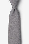 Black Cotton Hitchcock Extra Long Tie