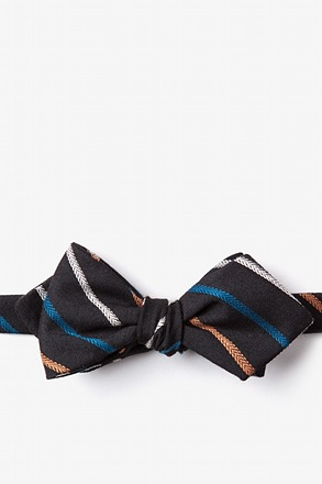 Houston Black Diamond Tip Bow Tie