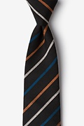 Black Cotton Houston Extra Long Tie