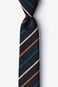 Black Cotton Houston Skinny Tie