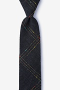 Black Cotton Hunter Skinny Tie
