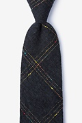 Black Cotton Hunter Tie