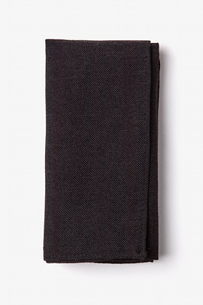 Katy Black Pocket Square