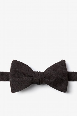 _Katy Black Self-Tie Bow Tie_