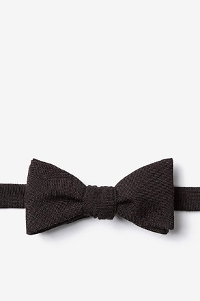 _Katy Black Skinny Bow Tie_
