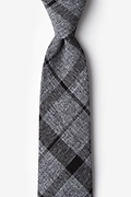 Black Cotton Kirkland Extra Long Tie