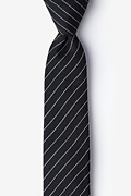 Black Cotton Lewisville Skinny Tie