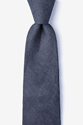 Black Cotton Munroe Extra Long Tie