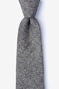 Black Cotton Niles Extra Long Tie
