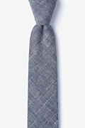 Black Cotton Norton Skinny Tie