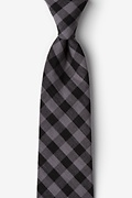 Black Cotton Pasco Extra Long Tie