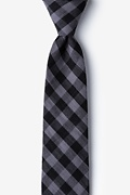 Black Cotton Pasco Skinny Tie