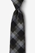 Black Cotton Richland Extra Long Tie