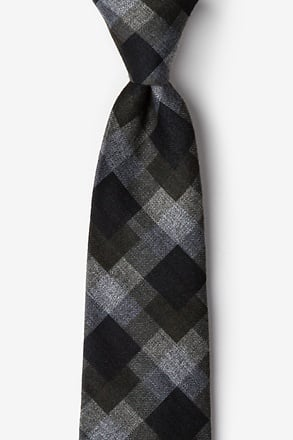 Richland Black Extra Long Tie