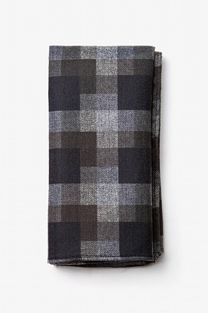 Richland Black Pocket Square