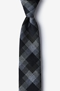 Black Cotton Richland Skinny Tie