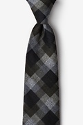 Black Cotton Richland Tie