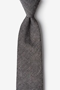 Black Cotton Teague Extra Long Tie