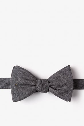 Teague Black Self-Tie Bow Tie