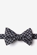 Black Cotton Tempe Self-Tie Bow Tie