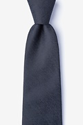 Black Cotton Tiffin Extra Long Tie