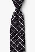 Black Cotton Tucson Extra Long Tie