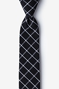 Black Cotton Tucson Skinny Tie
