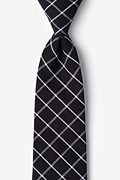 Black Cotton Tucson Tie