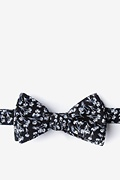Black Cotton Welch Bow Tie