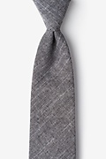 Wortham Black Extra Long Tie