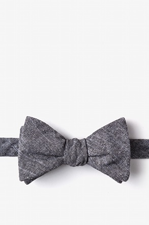 Wortham Black Self-Tie Bow Tie