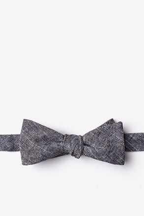 _Wortham Black Skinny Bow Tie_