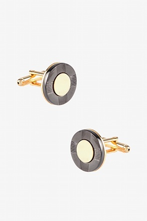 _Life Saver Black Gold Cufflinks_