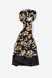 Black Gold Silk West Nile Oblong Scarf