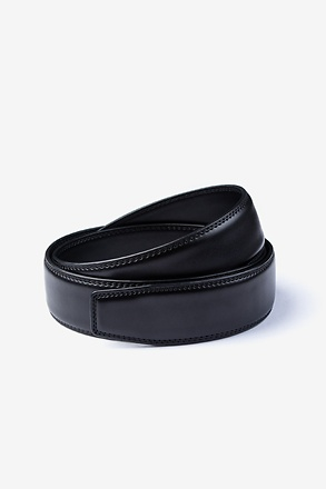 Classic Premium Leather Black Belt Strap