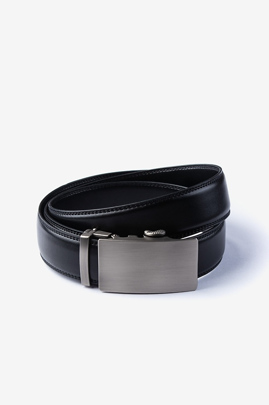 Premium Leather Micro-Fit Slide Black Belt Photo (0)
