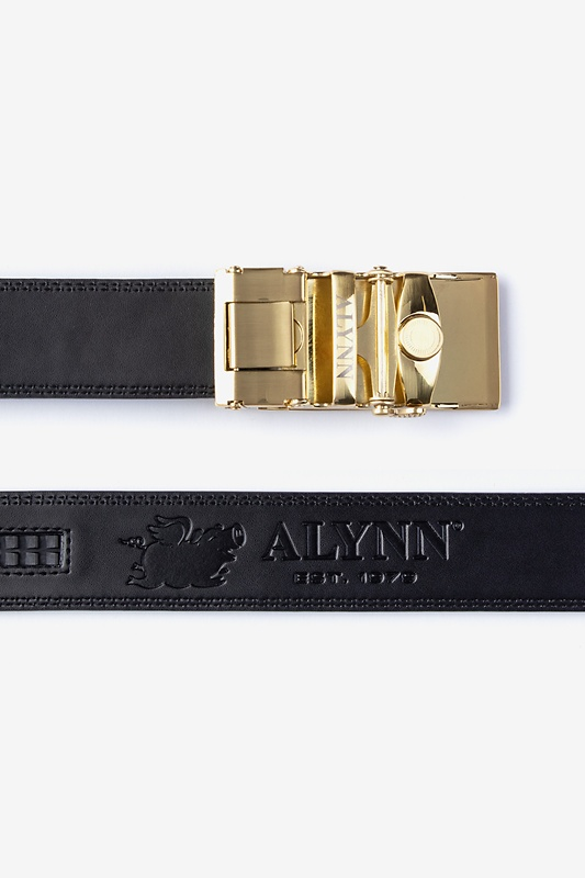 Premium Leather Micro-Fit Slide Black Belt Photo (1)