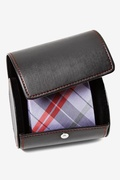 Leatherette Gift Roll Tie Case