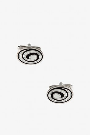 """Whirlpool Oval"" Cufflinks"