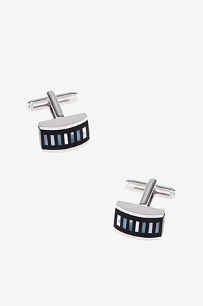 Abolone Stripe Black Cufflinks