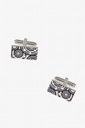 Abstract Circles Rectangle Cufflinks
