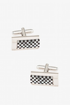 _Across the Board Black Cufflinks_