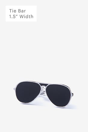 Aviator Sunglasses Black Tie Bar