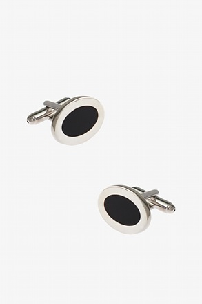 Basic Ring Black Cufflinks