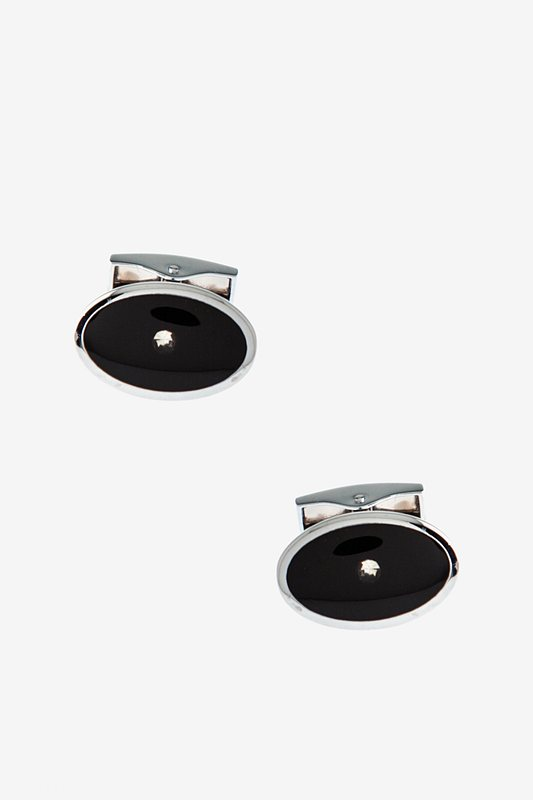 Beaming Dot Black Cufflinks Photo (0)